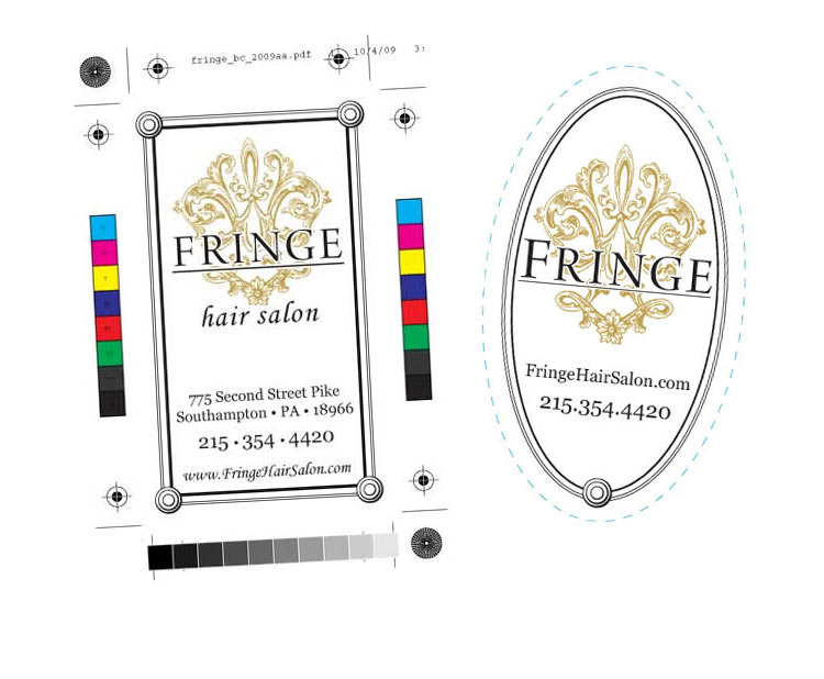 Fringe Salon Decals