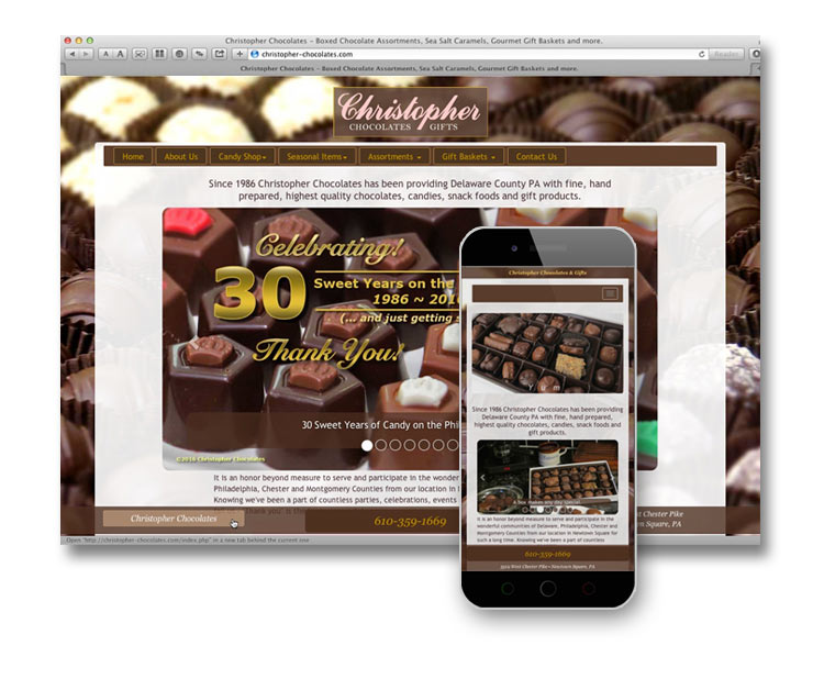 Christopher Chocolates Website